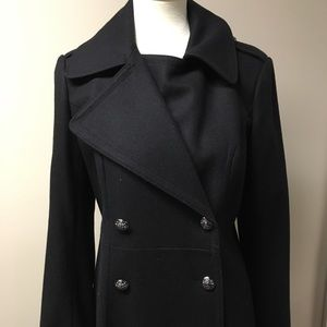 French Connection Maxi Double Breasted Flare Coat